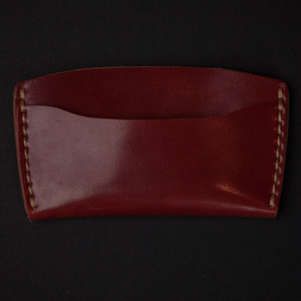 Red Shell Cordovan Slim Card Wallet at The Lodge