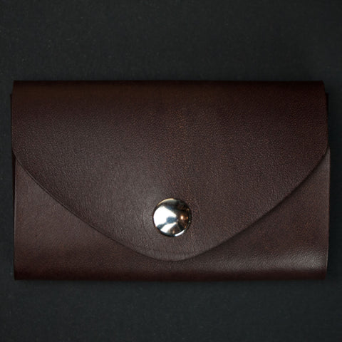 Ezra Arthur Brown Leather Snap Card Holder at The Lodge
