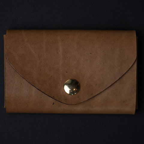 Ezra Arthur Whiskey Leather Snap Card Pouch at The Lodge