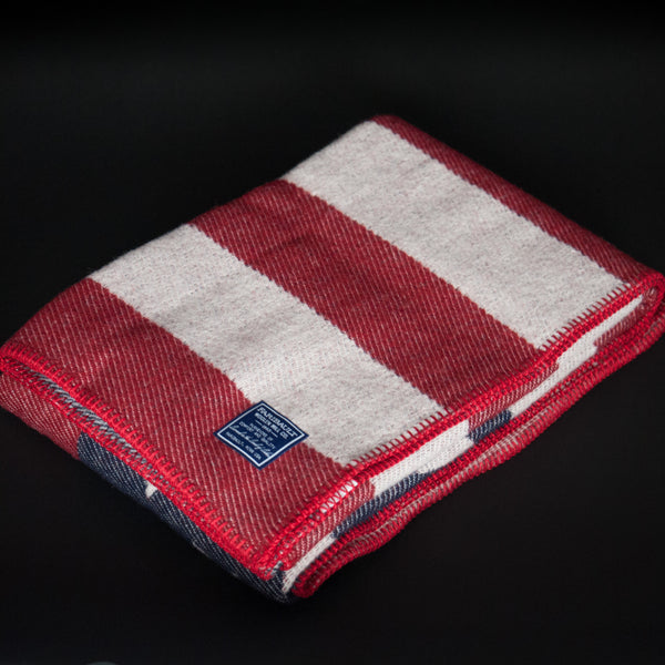 FARIBAULT AMERICAN FLAG WOOL THROW - THE LODGE  - 1