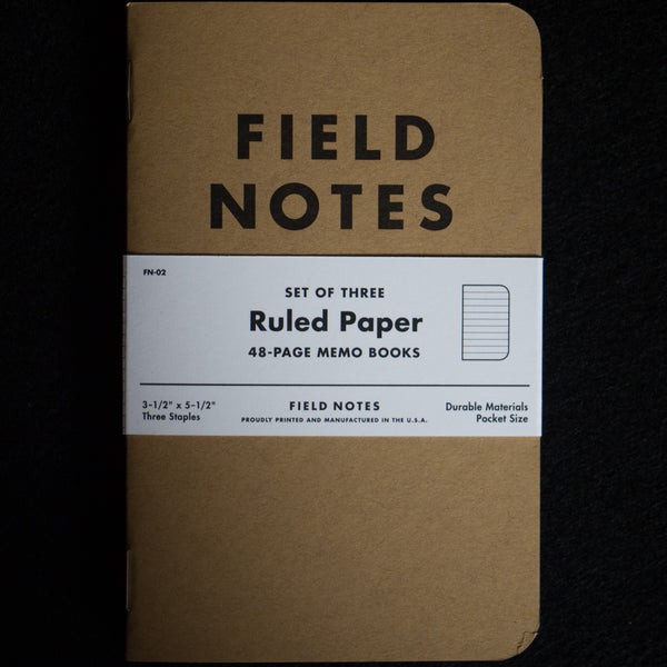 FIELD NOTES RULED THE ORIGINAL AMERICAN NOTEBOOK - THE LODGE  - 1