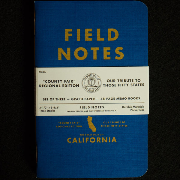 FIELD NOTES-CALIFORNIA, COUNTY FAIR EDITION - THE LODGE  - 1
