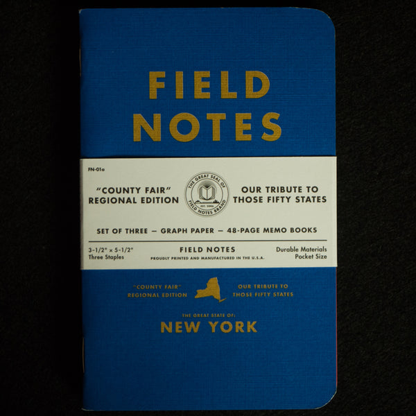 FIELD NOTES-NEW YORK COUNTY FAIR EDITION - THE LODGE  - 1