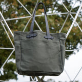 FILSON TOTE BAG OLIVE - THE LODGE  - 8