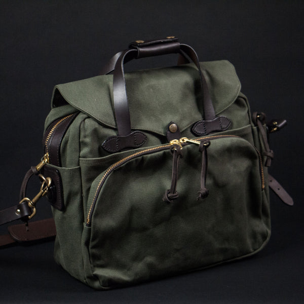 FILSON PADDED LAPTOP BAG OLIVE - THE LODGE  - 1