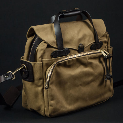 FILSON PADDED LAPTOP BAG TAN - THE LODGE  - 1