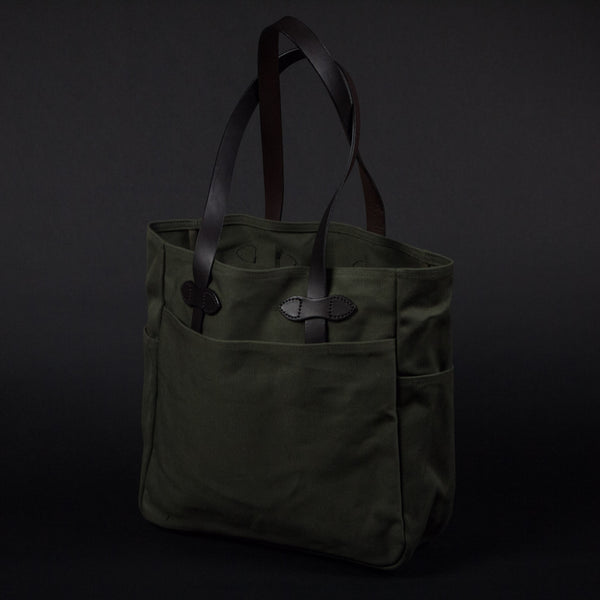 FILSON TOTE BAG OLIVE - THE LODGE  - 1