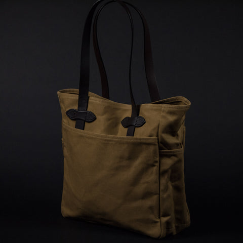 FILSON TOTE BAG TAN - THE LODGE  - 1