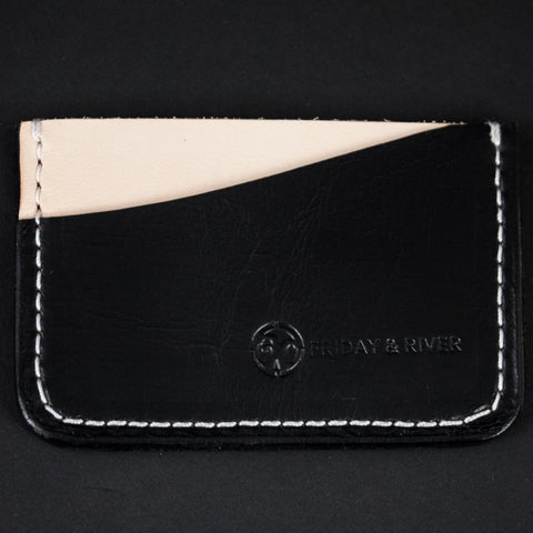 BLACK PACIFIC CARD WALLET HORWEEN LEATHER - THE LODGE  - 1