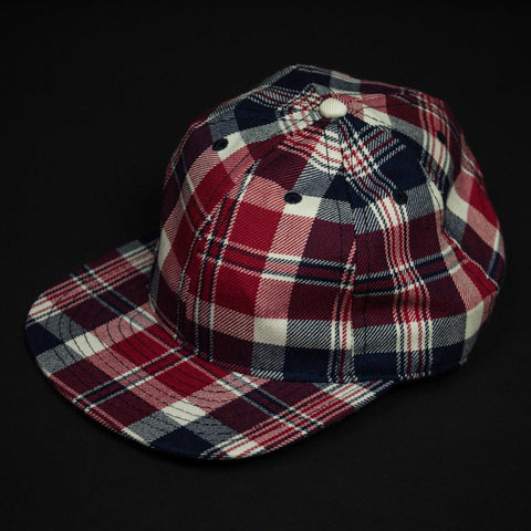 FAIR ENDS RED PLAID WOOL BASEBALL CAP - THE LODGE  - 1