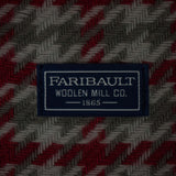 FARIBAULT RED DAWSON HOUNDSTOOTH MERINO WOOL THROW