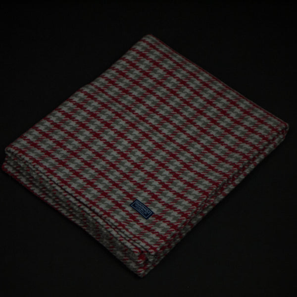 Faribault Woolen Mill Dawson Houndstooth Throw Red at The Lodge