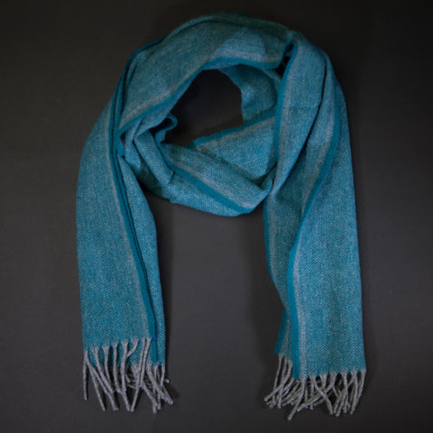 Faribault Spruce Ashby Twill Merino Wool Scarf at The Lodge