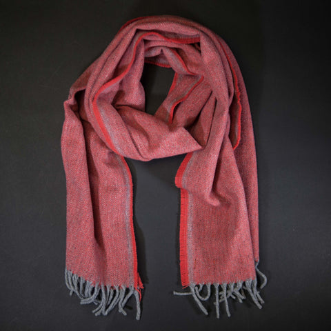 Faribault Terracotta Ashby Twill Merino Wool Scarf at The Lodge