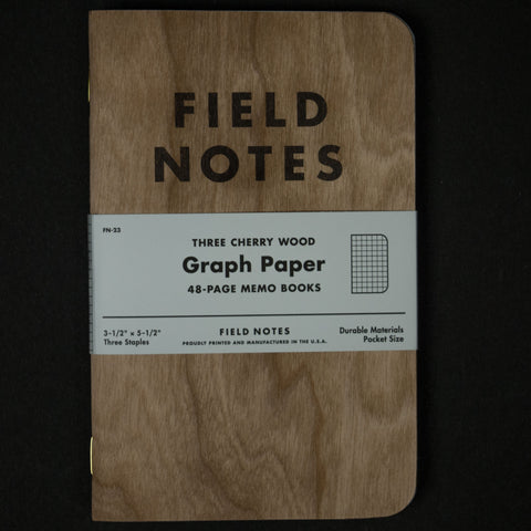 FIELD NOTES CHERRY WOOD GRAPH 3-PACK - THE LODGE  - 1