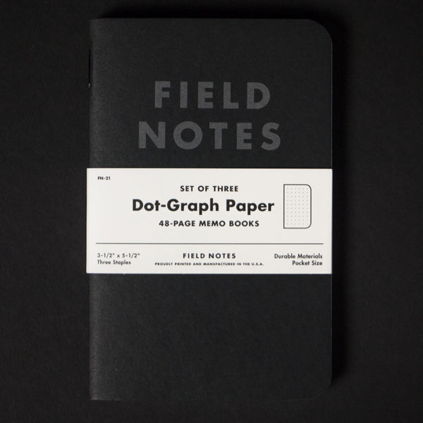 FIELD NOTES PITCH BLACK 3 PACK - THE LODGE  - 1