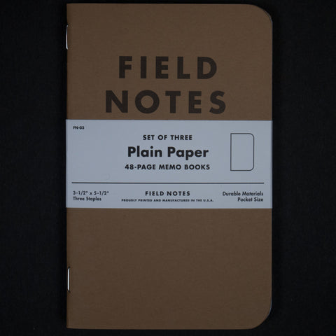FIELD NOTES PLAIN THE ORIGINAL AMERICAN NOTEBOOK - THE LODGE  - 1