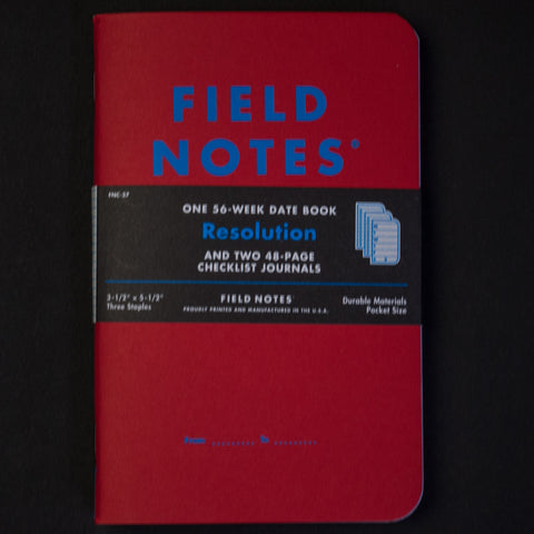 Field Notes Resolution 3-Pack Pocket Notebook at The Lodge