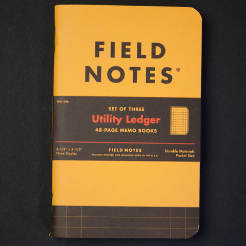 Field Notes Utility Ledger Notebook 3-Pack at The Lodge