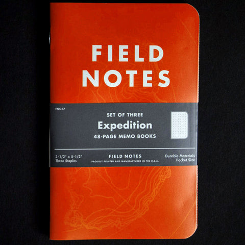 FIELD NOTES EXPEDITION WATER-RESISTANT 3 PACK - THE LODGE  - 1