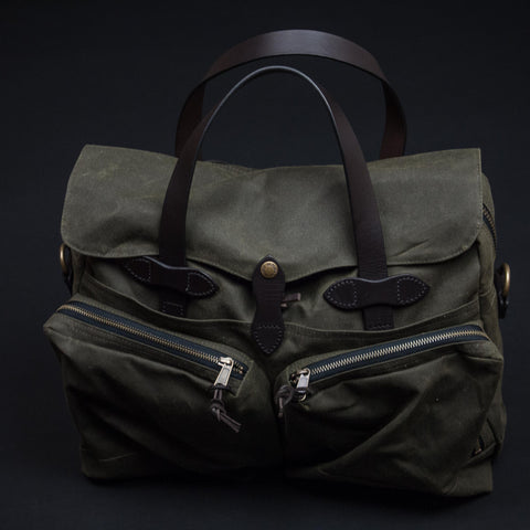 Filson Olive 24-Hour Tincloth Briefcase at The Lodge