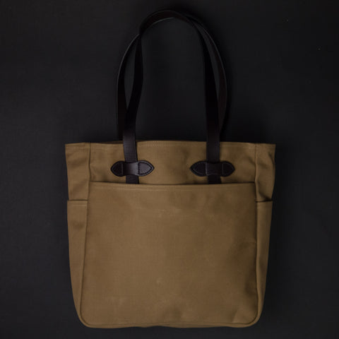Filson Tote Bag Tan Waxed Twill at The Lodge