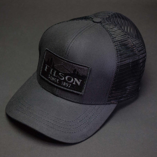 Filson Black Mesh Trucker Hat at The Lodge