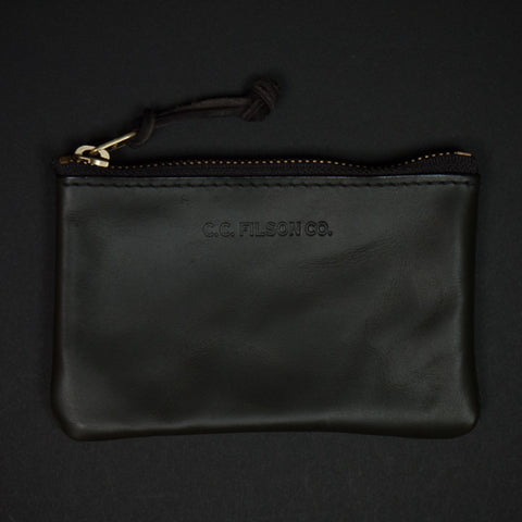 Filson Moss Green Small Leather Pouch at The Lodge