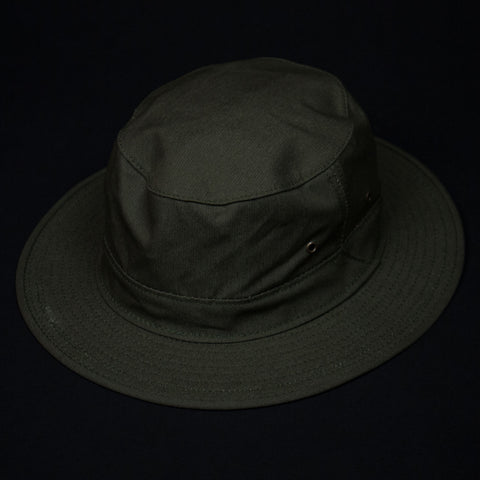 FILSON ORIGINAL TIN CLOTH HAT DRY SHELTER CLOTH OTTER GREEN