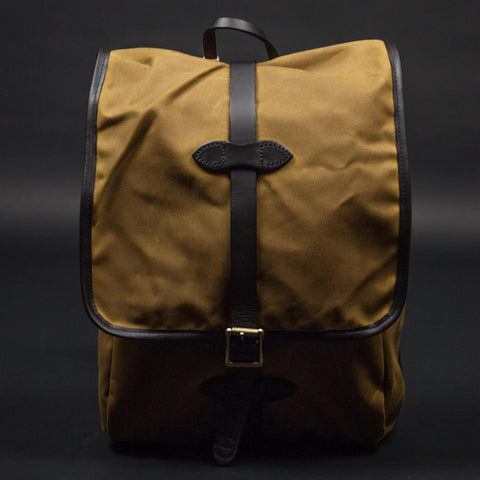 FILSON TAN TINCLOTH BACKPACK - THE LODGE  - 1