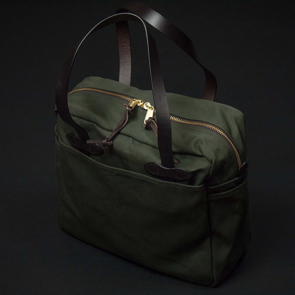 FILSON ZIPPER TOTE OLIVE - THE LODGE  - 1