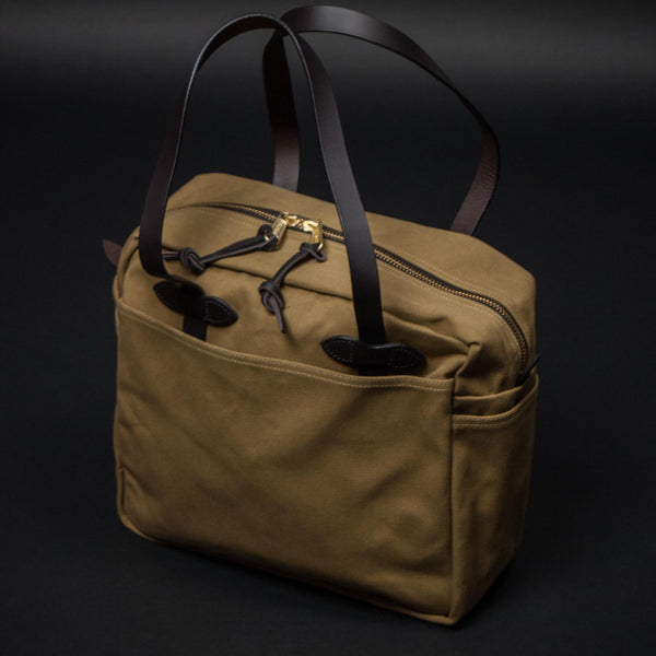 FILSON ZIPPER TOTE TAN - THE LODGE  - 1