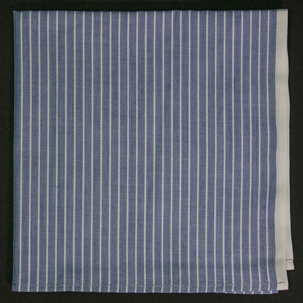 General Knot Selvedge Stripe Pocket Square at The Lodge