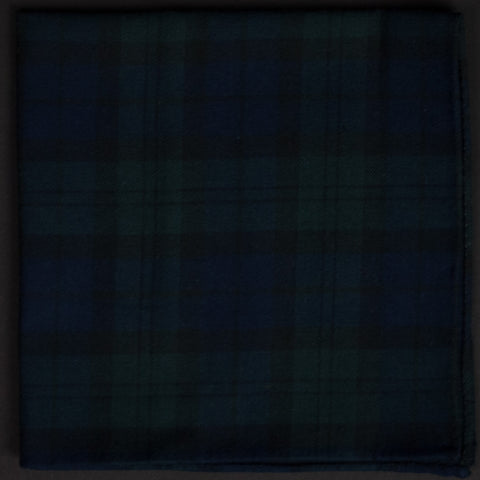 BLACK WATCH PLAID POCKET SQUARE - THE LODGE  - 1