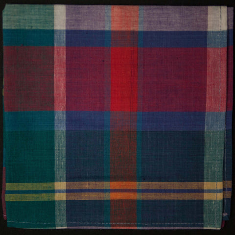 General Knot Block Island Madras Pocket Square at The Lodge