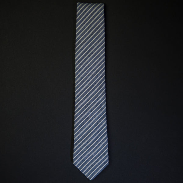 General Knot Navy Rope Stripe Men's Tie at The Lodge