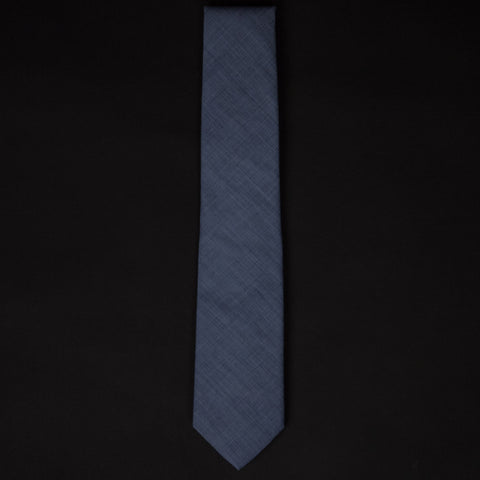 1930S CORNFLOWER FRENCH SHIRTING TIE - THE LODGE  - 1