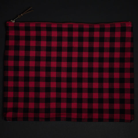 General Knot Buffalo Plaid Large Zip Organizer at The Lodge