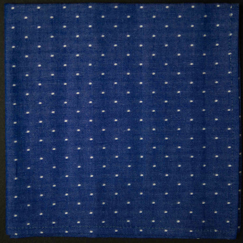 General Knot Cobalt Dots Pocket Square at The Lodge