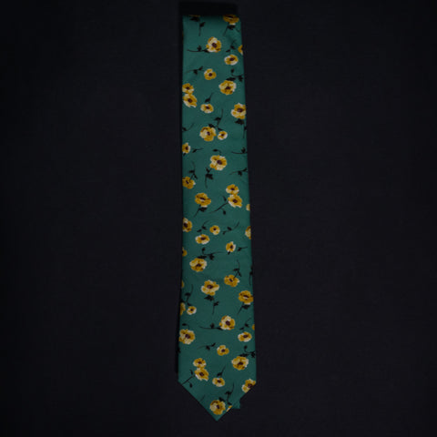 General Knot Soft Fern Dancing Floral Tie at The Lodge
