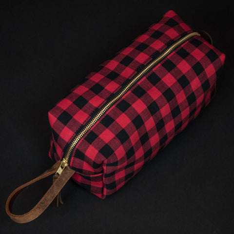 General Knot Buffalo Check Dopp Kit at The Lodge