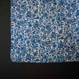 1930s DUSTY BLUE CALICO POCKET SQUARE