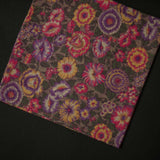 1970s MORNING GLORY FLORAL POCKET SQUARE