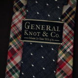 GEORGETOWN PLAID & INDIGO DOT TIE - THE LODGE  - 4