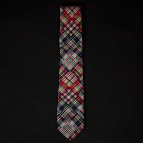GEORGETOWN PLAID & INDIGO DOT TIE - THE LODGE  - 1