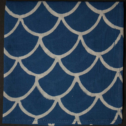 General Knot Block Print Gentle Waves Pocket Square at The Lodge
