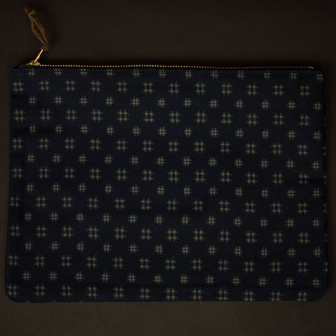 JAPANESE HASHMARK ZIP IPAD POUCH - THE LODGE  - 1