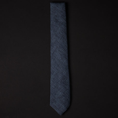 General Knot Navy Linen Heather Tie at The Lodge