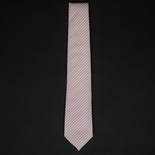 General Knot Blush Seersucker Stripe Tie at The Lodge