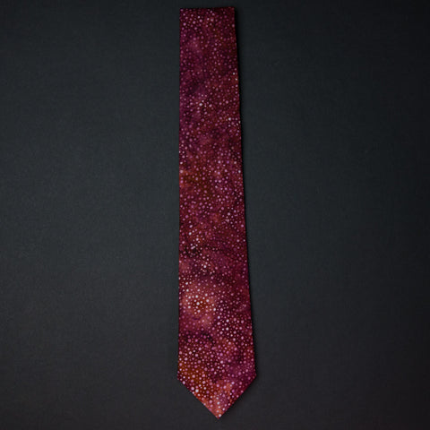 General Knot Red Constellation Necktie
